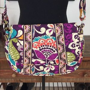 VERA BRADLEY SADDLEBAG CROSSBODY PURSE